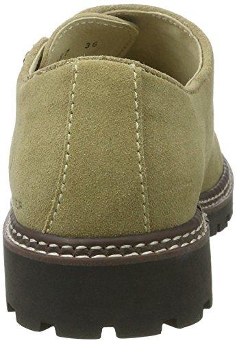 Servus Unisex suede Adulto Zapatos Cordones Derby Wolpertinger Beige beige de HTqfPn77