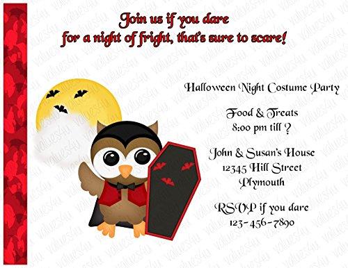 Personalized Halloween Invitation (halloween126) (sold in packs of (Personalized Halloween Invitations)
