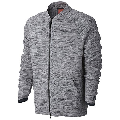 NIKE Sportswear Tech Knit Men's Jacket (Medium, Carbon Heather/Black/Cool Grey)