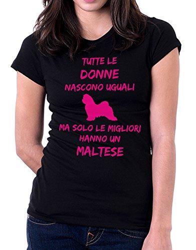 Solo Dogs Maltese Un Nascono Women Fashion Taglie Humor Migliori Tshirt Donne Ma Tutte Nero Uguali Hanno Le xqwARqH