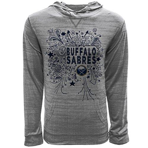 Levelwear LEY9R NHL Buffalo Sabres Youth Unisex Jr Anchor Hoody Scribbled Long Sleeve Hooded Tee, YXL, Heather ()