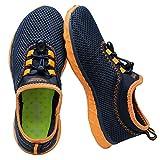 ALEADER Kid's Quick Dry Water Shoes Comfort Walking Sneakers Navy/Orange 4 M US Big Kids