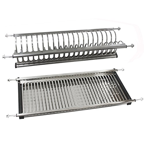 Probrico Modern 2-Tier Stainless Steel Dish Drying Dryer Rac
