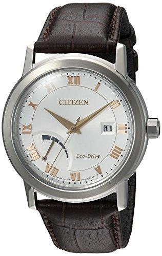Citizen Eco Drive Quartz Stainless Leather