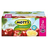 Mott's Natural Apple Sauce, 36 pk./3.9 oz. (pack of 6)