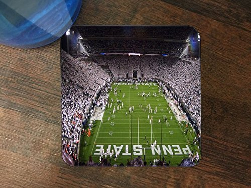 Penn State Beaver Stadium Silicone Drink Beverage Coaster 4 Pack ()