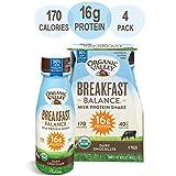 Organic Valley, Dark Chocolate Milk Protein Shake, Healthy Snacks, Breakfast Balance, 11oz (Pack of 4)