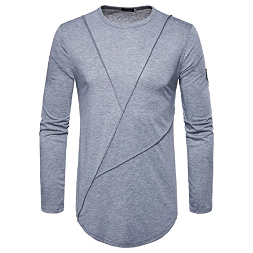 Clearance Sale! Wintialy Fashion Men's Autumn Pure Color Joint Long Sleeved Sweatshirts Top (K-12 Gear Jumper)