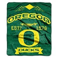 NCAA Oregon Ducks College Label Raschel Throw, 50 x 60-Inch