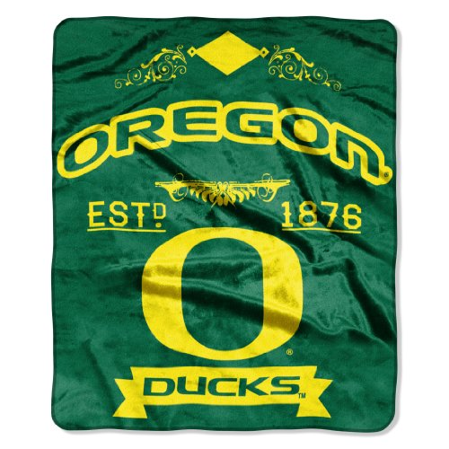NCAA Oregon Ducks College Label Raschel Throw, 50 x - Oregon Mall In Outlet