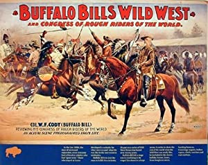 Vintage Wild West Buffalo Bill's Western Cowboy Horses Wall Decor Picture Art Print Poster (16x20)