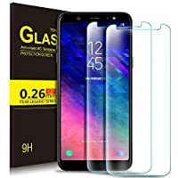 Samsung Galaxy A6 2018 Schutzfolie, KuGi 9H Panzerglas Glas Schutzfolie [HD Ultra] [Anti-Kratzer] Displayschutzfolie Für Samsung Galaxy A6 2018 smartphone. Klar [2 PACK]