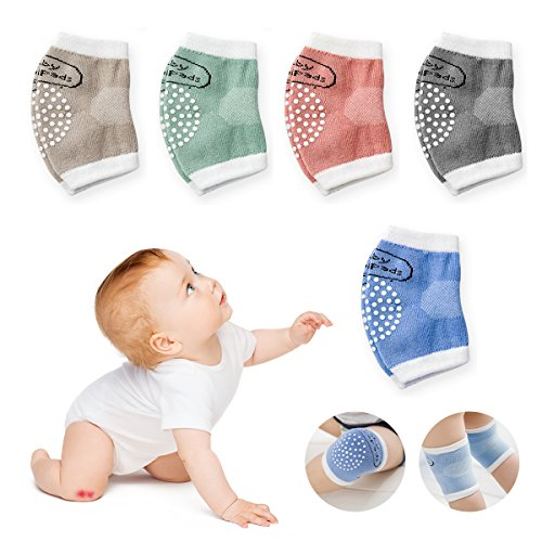 Unsex 5packs Cotton Baby Toddlers Kneepads Crawling Anti-Slip Knee Leg Warmers 4.7x3.5inch