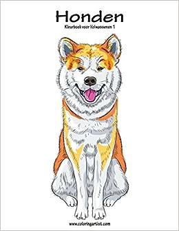 Kleurplaten Honden Voor Volwassenen.Amazon Com Honden Kleurboek Voor Volwassenen 1 Volume 1 Dutch