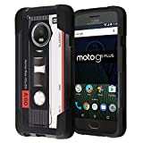 Moto G5 Plus Case, Capsule-Case Hybrid Fusion Dual Layer Shockproof Combat Kickstand Case (Black) for Motorola Moto G5 Plus / Moto G Plus 5th Gen, XT1687 - (Cassette Tape)