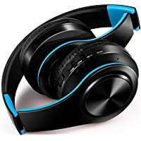 FARVOICE Bluetooth Headphones On Ear Stereo Wireless Headset Wireless Headphone Headset with Microphone for PC/Cell Phones/TV (Blue)