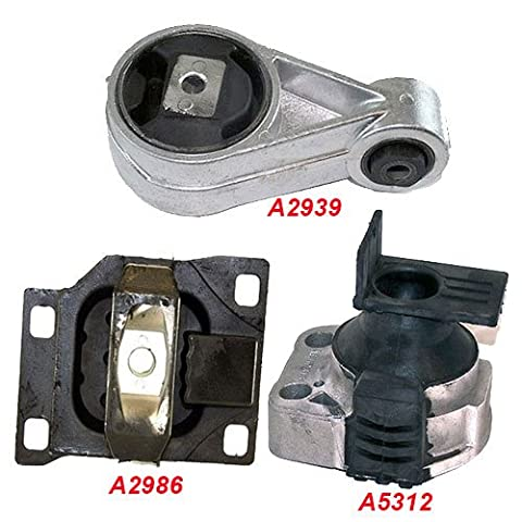 K168-03 : Fits 2003-2004 FORD FOCUS 2.3L Engine & Trans Mount Set (AT& MT) 3 Pieces : 2003 2004 - A5312 A2939 - Ford Focus Engine Mount