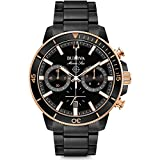 Bulova  Men's Marine Star - 98B302 Black/Rose Gold One Size