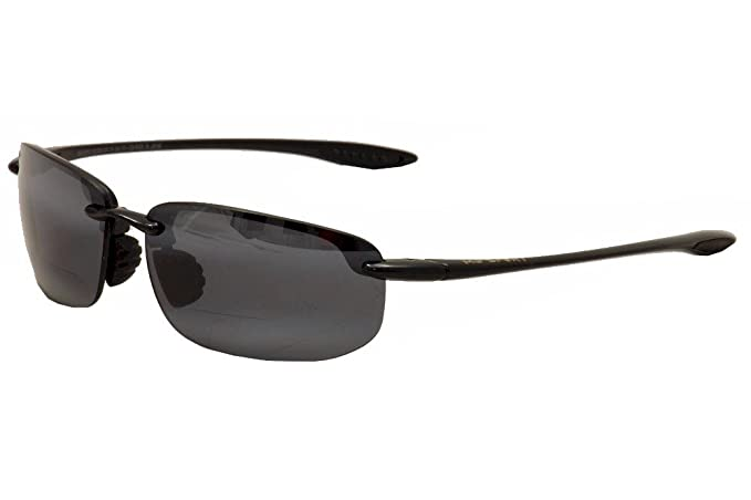 0bb1e0a58a Maui Jim G807-022 Gloss Black Hookipa Reader Wrap Sunglasses Polarised Golf