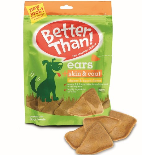 Better Than Ears Premium Dog Treats, Cheese and Bacon, 9 Count (Pack of 7), My Pet Supplies