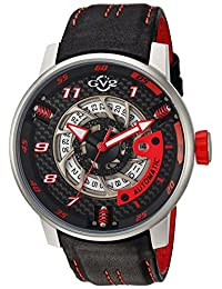 GV2 by Gevril Men's 1300 Motorcycle Sport Analog Display Automatic Self Wind Black Watch