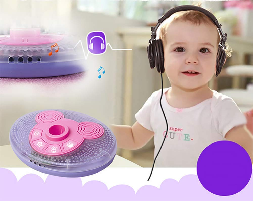 Kid Microphone Toys, Kids Children's Karaoke Machines with Stand, Kid Gifts for 3 4 5 6 Year Old Girls,A by GHDE& (Image #3)