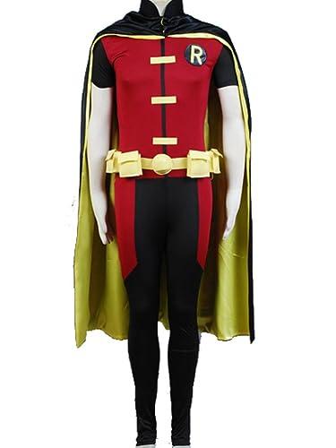 Batman Robin justicia joven Cosplay disfraz adulto talla ...