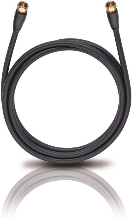 UltraHD Digitales Antennenkabel mit Koax-Stecker 2m schwarz 2-fach Schirmung Oehlbach Easy Connect Antenna HD 200 DVB-T2//DVB-C2