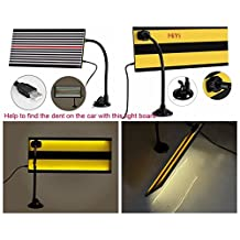 HiYi PDR Led Stripe Line Board Paintless Dent Removal Repair Tool with Ajustment Holder White light