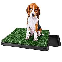 Homdox Pet Indoor Potty Dog Grass Mat Training Pad Pet Potty Dog Training Pads Non-toxic Synthetic Grass Pee Pads