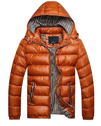 Loose Men's 2 Jacket amp;W Hood M Outwear Thicken amp;S Jacket Quilted WnUCU1Bx