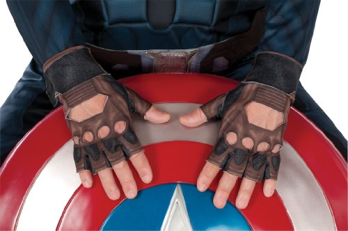 Rubie's Costume Men's Marvel Universe Captain America The Winter Soldier Gloves, Multi, One Size (Female Marvel Characters Costumes)
