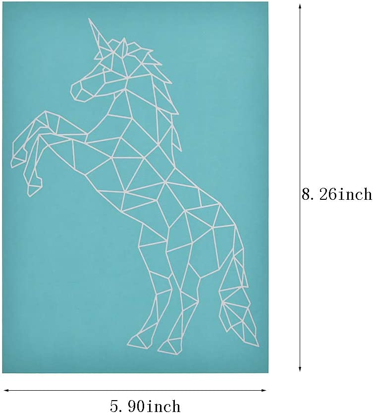 YeulionCraft Self-Adhesive Silk Screen Printing Stencil Mesh Transfers Various Pattern for DIY Home Decoration T-Shirt Pillow Fabric Painting Horse