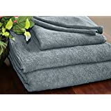 Homescapes Turkish Cotton Face Towel Grey Charcoal Very Soft and Absorbent, 500 GSM Heavy Weight for everyday Luxury by Homescapes
