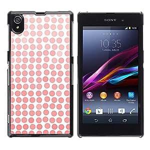 Be Good Phone Accessory // Dura Cáscara cubierta Protectora Caso Carcasa Funda de Protección para Sony Xperia Z1 L39 C6902 C6903 C6906 C6916 C6943 // Pattern Girly White Watercolor