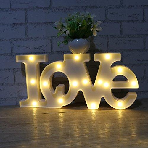 JUHUI Decorative Plastic LED Letters Light White