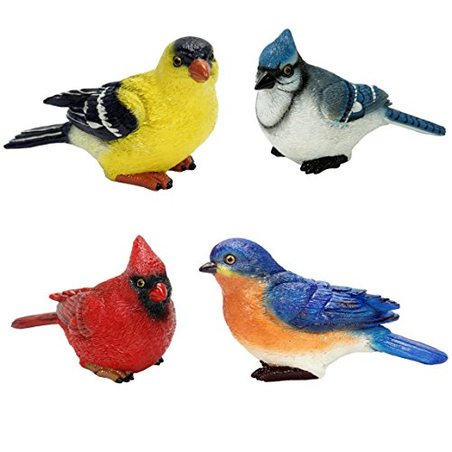 (Michael Carr Designs 80089MIXA Small Birds, Set of 4)