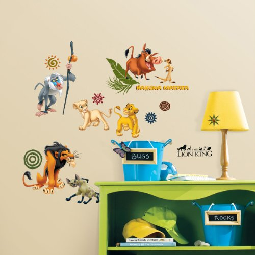 Cheap Stickers disney the lion king wall decal cutouts 18x40