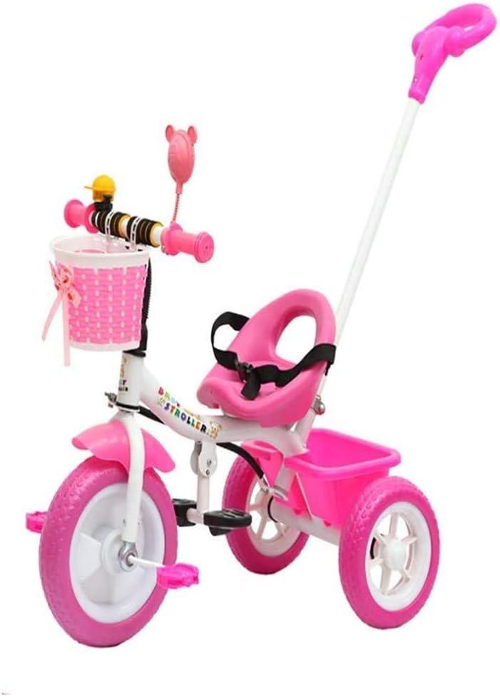 AJH Equilibrio Bicicleta 2 en 1 para niños triciclos para 18 Meses-6 años o niños Triciclo 3 Ruedas de Bicicletas para niños pequeños Niños Niñas con 3 Ruedas Plegable del cinturón de Seguridad