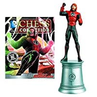 DC Superhero Guy Gardner White Bishop Chess Piece with Collector Magazine