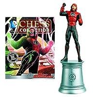 DC Superhero Guy Gardner White Bishop Chess Piece with Collector Magazine