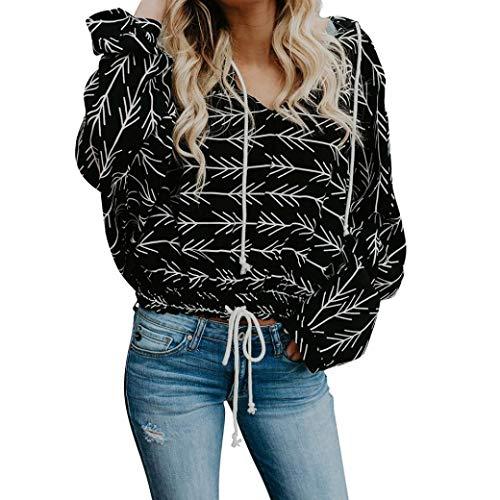 Anxinke Women Fashion Printing Long Sleeve V Neck Pullover Sweatshirts (M) by Anxinke