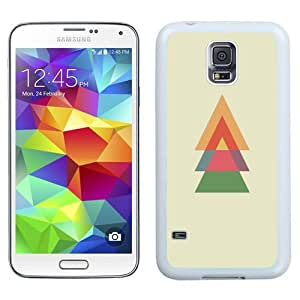 Easy use Cell Phone Case Design with Minimal Christmas Tree Galaxy S5 Wallpaper in White