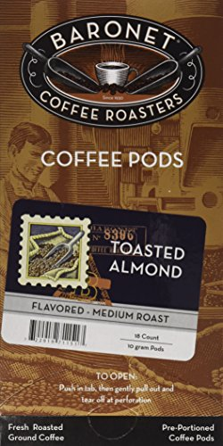 Baronet Coffee Toasted Almond Coffee Pods, 54 Count - Almond Toasted Coffee