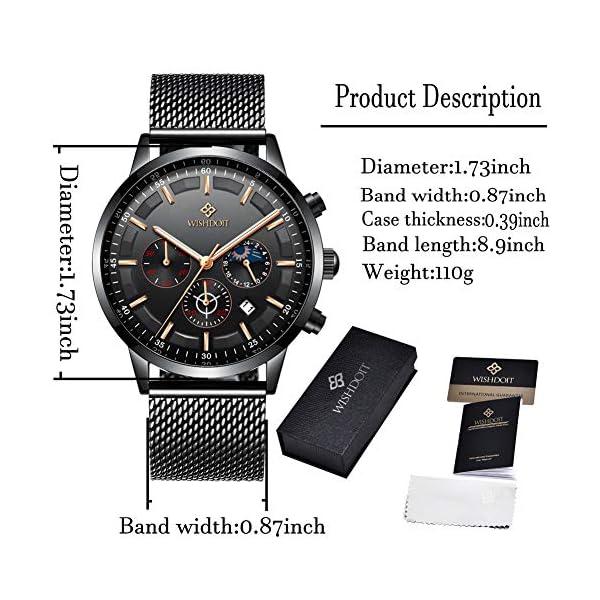 Men's Watches Fashion Analog Quartz Watch Date Business Chronograph Dress Luxury Brand Black Leather Wristwatch Gents Sport Waterproof Wristwatch 20