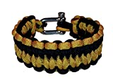 Paracord Survival Bracelet - US Military Appreciation Edition - Quick Deploy - Fire-starter - Survival Gear With Military Colors (US Army, Average)