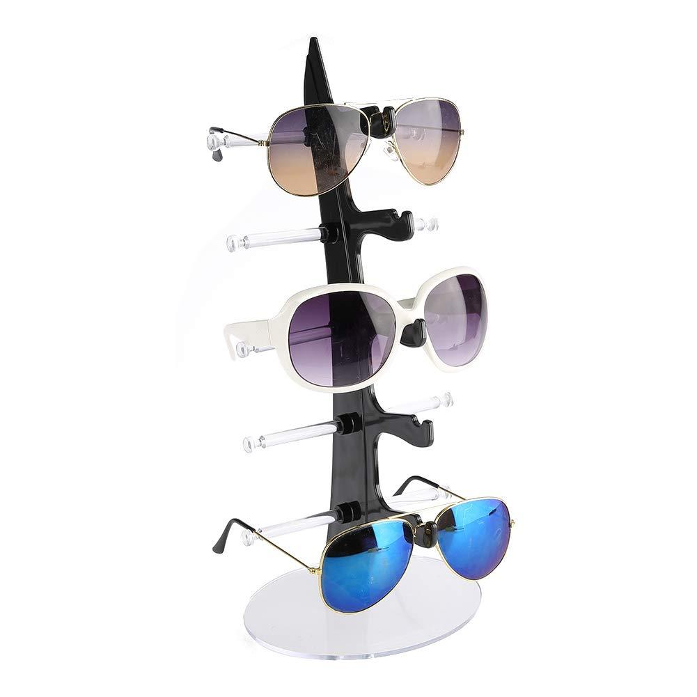 Occhiali da vista, 5 paia di occhiali in plastica scaffale occhiali da sole espositore per scaffali rack espositore per vetrine(Trasparente) TMISHION