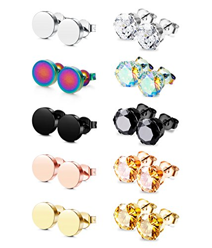 Jstyle Pairs Stainless Earrings Piercing