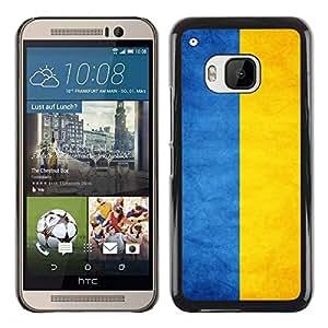 Be Good Phone Accessory // Dura Cáscara cubierta Protectora Caso Carcasa Funda de Protección para HTC One M9 // National Flag Nation Country Ukraine
