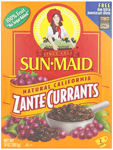 Sun Maid Zante Currants, No Sugar Added, 10 oz (Pack of 1) (Sun Dried Fruits)